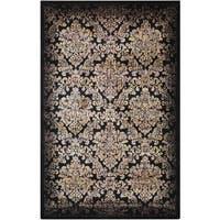 Nourison Classic Chambord Black Floral Rug (2'3 x 3'9) - 2'3 x 3'9