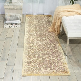 Nourison Chambord Ivory Floral Rug (2'3 x 8')