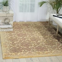 Nourison Chambord Ivory Floral Rug - 5'6 x 7'5