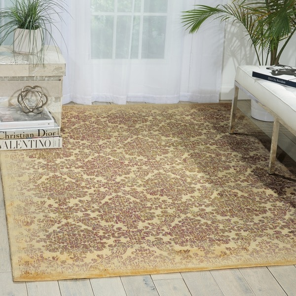 Nourison Chambord Ivory Floral Rug - 7'9 x 10'10
