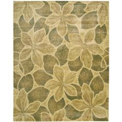 Nourison Chambord Gold Floral Rug (2' x 5'9) - Thumbnail 1