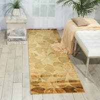Nourison Chambord Gold Floral Rug - 2'3 x 8'