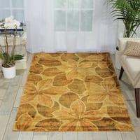 Nourison Chambord Gold Floral Rug (3'6 x 5'6)