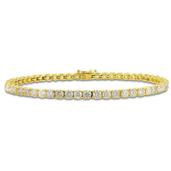 Miadora Signature Collection 14k Yellow Gold 6ct TDW Diamond Tennis Bracelet (G-H, I1-I2)
