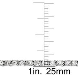 Miadora 14k White Gold 3ct TDW Diamond Tennis Bracelet (G-H, I1-I2)