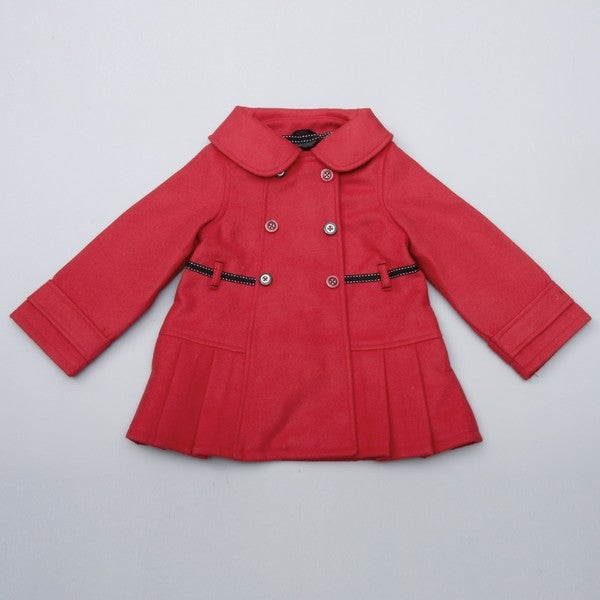 outlet boutique soft and light comfortable feel London Fog Toddler Girl's Red Belted Wool Coat FINAL SALE ...