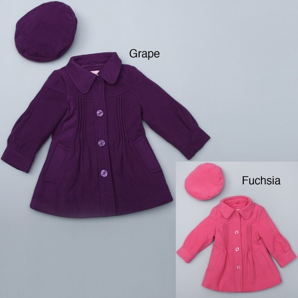 London Fog Toddler Girl's Fashion Wool Coat with Hat FINAL SALE ...