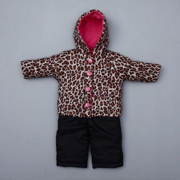 93fc4de98 Shop Carter's Infant Girl's Leopard Snowsuit FINAL SALE - Free ...