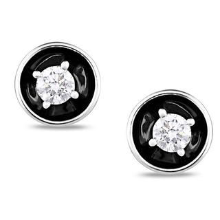 Miadora 14k White Gold 1/2ct TDW Diamond Earrings