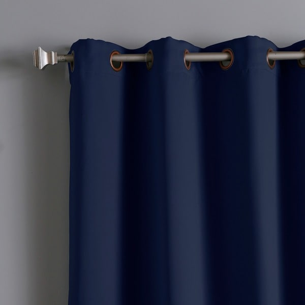 aurora home wide width thermal blackout 96inch curtain panel free shipping today