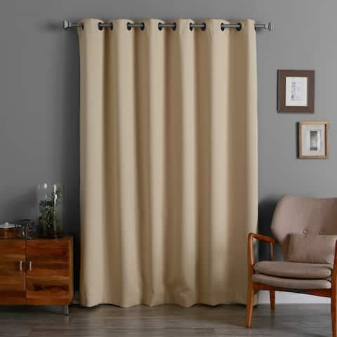 Aurora Home 96-inch Wide-width Thermal Blackout Curtain Panel