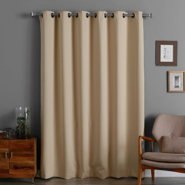 Aurora Home Wide Width 80 X 84 Inch Thermal Blackout Curtain Panel