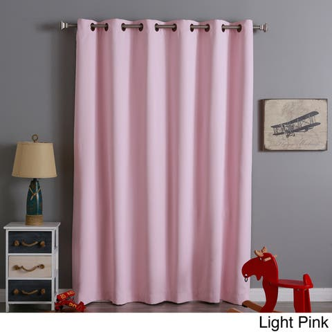 Aurora Home Wide Width 80 x 84-inch Thermal Blackout Curtain Panel - 80 x 84
