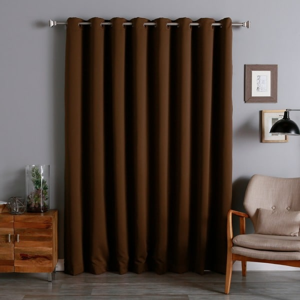 Double Layer Curtain Rod Floral Blackout Curtains