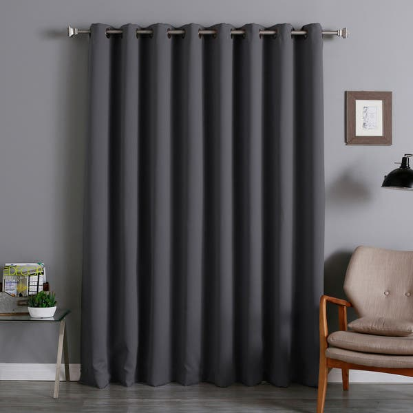 shop aurora home extra wide thermal 100 x 84 inch blackout curtain panel 100 x 84 100 x 84 on sale overstock 5793848 best home fashion