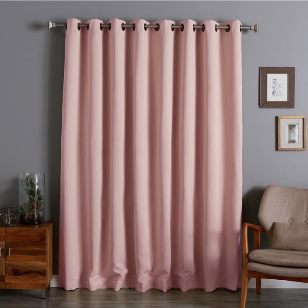 Aurora Home Extra Wide Thermal 100 X 84 Inch Blackout Curtain Panel