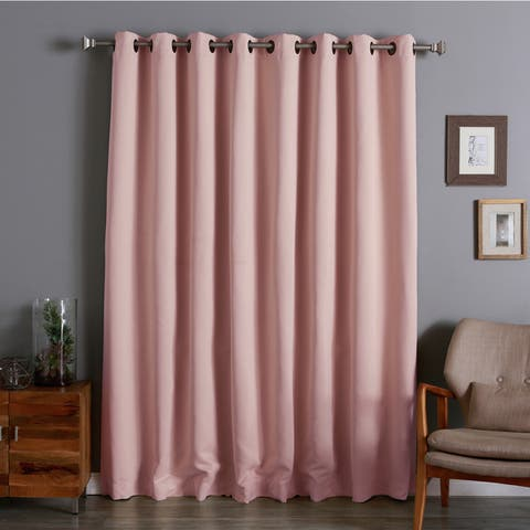 Aurora Home Extra Wide Thermal 100 x 84-inch Blackout Curtain Panel - 100 x 84 - 100 x 84