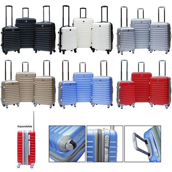 CalPak Cyprus 3-piece Expandable Hardside Spinner Luggage Set