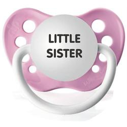 Personalized Pacifiers Little Sister Pacifier in Pink
