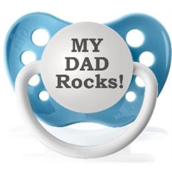 Personalized Pacifiers Blue My Dad Rocks Pacifier - Thumbnail 1