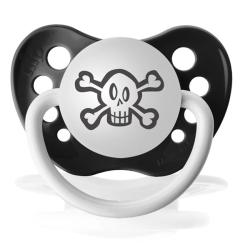 Personalized Pacifiers Skull Pacifier - Thumbnail 1