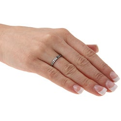 Women's Tungsten Crystal Notched Band (1.9 mm) - Thumbnail 2