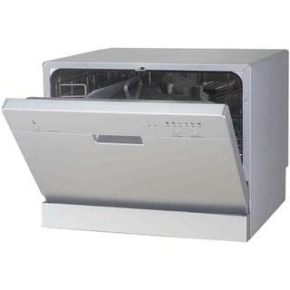 SPT Silver Portable Countertop Dishwasher