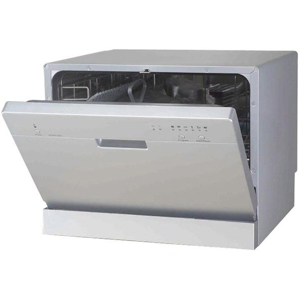 SPT Silver Portable Countertop Dishwasher