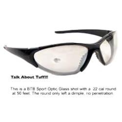 Shiny Black BTB 870 Sport Sunglasses