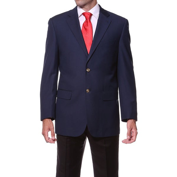 Ferrecci Men's Navy 2-button Blazer