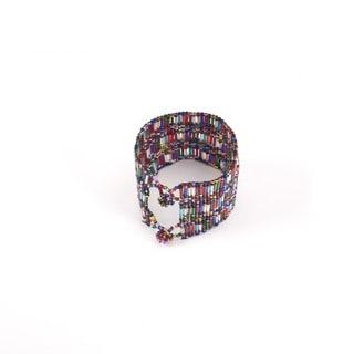 Handmade Crystal Bead Pulsar Multicolor Bracelet (Guatemala)