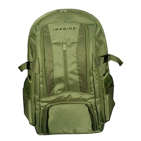 Imagine Eco-friendly Large Khaki Green Laptop Backpack