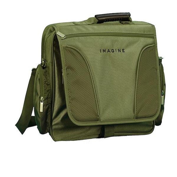 Imagine Eco-friendly 15.6-inch Khaki Green Laptop Messenger Bag