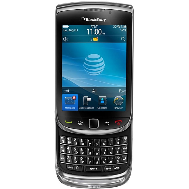 BlackBerry Torch 9800 Unlocked GSM Black Cell Phone (Refurbished)