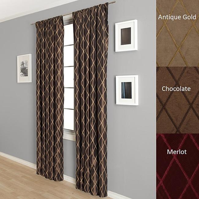Lambrequin Dina Faux Taffeta Silk 96-inch Curtain Panel