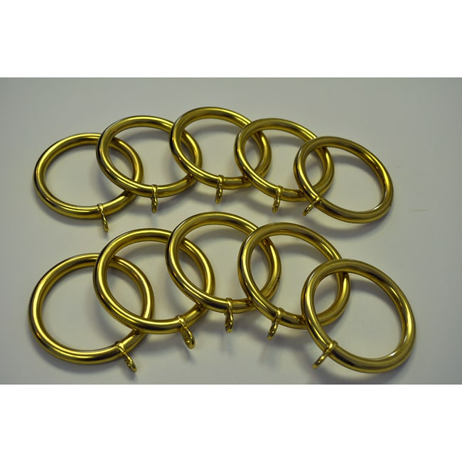 Curtains Ideas curtain rings brass : Solid Brass Drapery Rings (Pack of 10) - Free Shipping On Orders ...