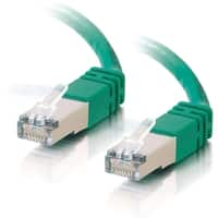 C2G-100ft Cat5e Molded Shielded (STP) Network Patch Cable - Green