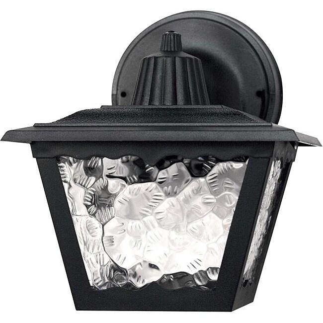 Transitional One-Light Black Steel Outdoor Wall Light