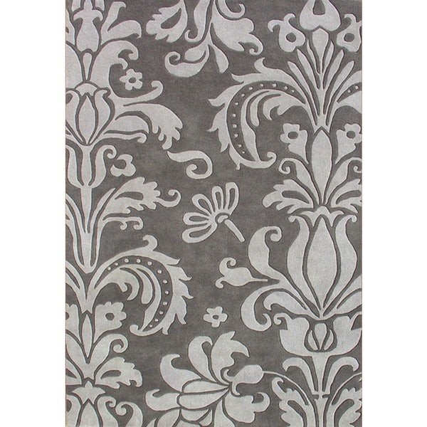 Alliyah Handmade Grey New Zealand Blend Wool Rug (4' x 6')