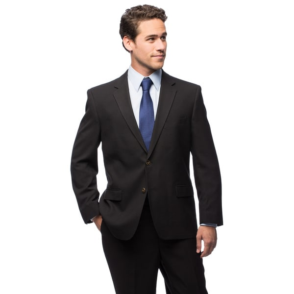 Adolfo Men's Two-button Black Blazer