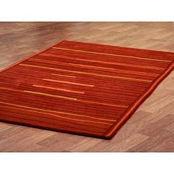 Hand-tufted Lineage Rust Wool Rug (8' x 11') - Thumbnail 1