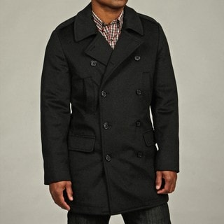Kenneth Cole New York Men's Wool Blend Military Peacoat