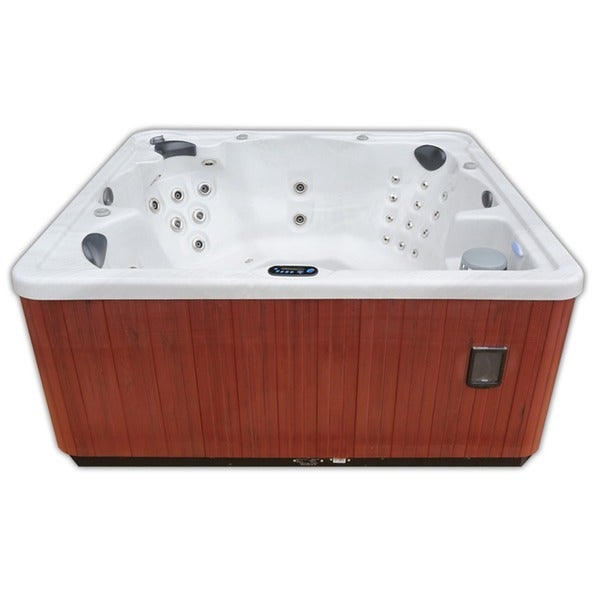 Home And Garden Spas 6 Person 80 Jet Hot Tub With Mp3 Aux