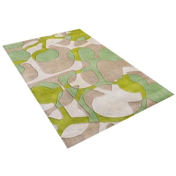 Alliyah Handmade Lime Green New Zealand Blend Wool Rug (8' x 10') - 8' x 10'