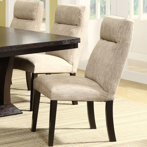 Charles Beige Fabric Upholstered Dining Chair (Set of 2) iNSPIRE Q Modern