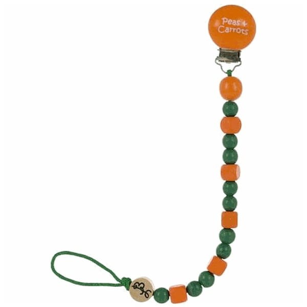 Bink Link Peas and Carrots Pacifier Clip