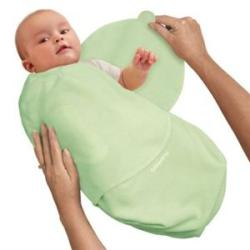 Summer Infant Sage Swaddleme Large Cotton Knit Blanket