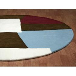 Hand-tufted Impressions Brown Wool Rug (6' Round) - Thumbnail 1