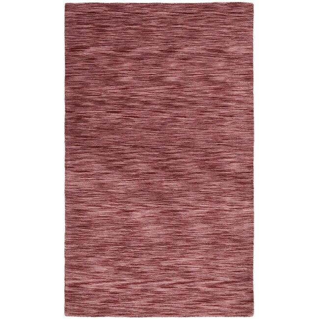 Hand-tufted Fusion Plum Wool Rug (4' x 6')