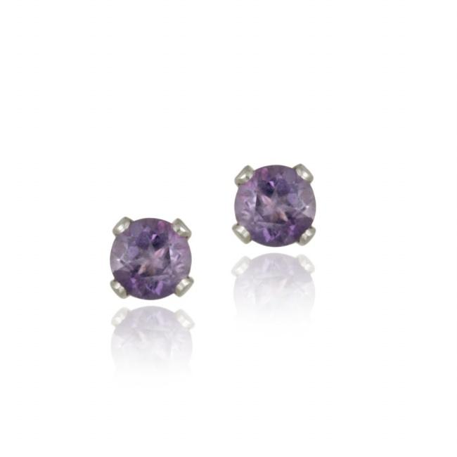 ctw stud qp gold earrings jewellers amethyst in